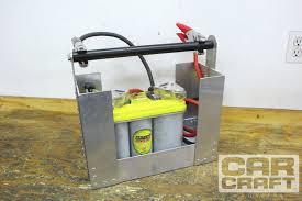 car craft family member tim moore suggested pop riveting our battery pack box together using