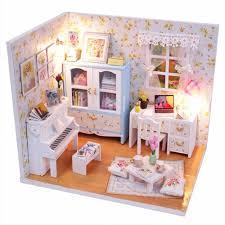 2017 New Handmade DIY Dollhouse Wood Doll House Miniature