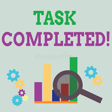 Completed Assignments Chart Word Writing Text Task Completed Business Concept For
