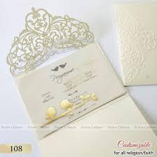 Wedding Kankotri Design Golden Printed Love Birds Design On Tracing Paper