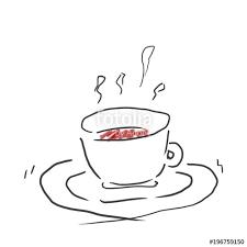 ホットコーヒー紅茶でほっと一息ジュース飲み物のゆるいオシャレ