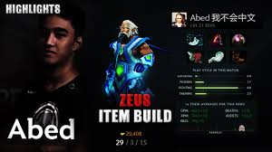 abed dota 2 play zeus item build how to skill guide youtube
