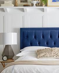 Blue Headboard Design Ideas Blue Headboard Bedroom Inspire Bedrooms Pillows Blue