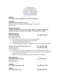 Psychology Resume Template Shalomhouse Psychology Major Resume