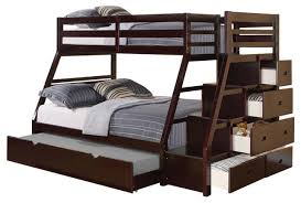 Jason Twin Over Full Bunk Bed With Storage Ladder And Trundle ...