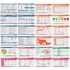 Nurse Charting Cheat Sheet Scrubnotes Medical Reference Id Badge Cards 13 Card Set Reference Sheets For Doctors And Nurses