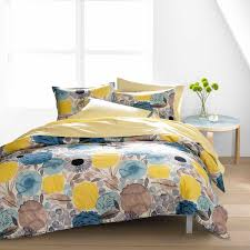 blue and yellow bedding. Delighful And Marimekko Sitruunapuu Yellow  Blue Duvet Cover Set In And Bedding A