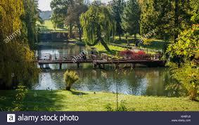 cascade garden bridge the park gardens leeds castle maidstone kent england uk