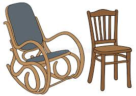 old chair stock vector ilration of rocking chair 33212924