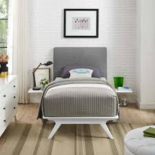 Tracy 3 Piece Twin Bedroom Set White Gray by Modern Living