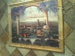 Murals For Kitchen Backsplash Mural Backsplash Backsplash Murals Travertine Tuscan Backsplash