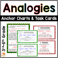 Types Of Analogies Chart Analogies Task Cards And Anchor Charts