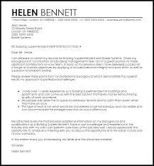 Building Superintendent Cover Letter Sample