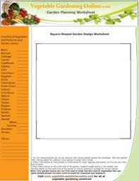 Use Our Free Vegetable Garden Worksheets Zone Chart And