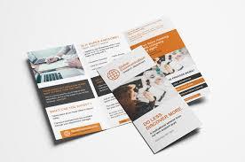 Fold Flyer Free 3 Fold Brochure Template For Photoshop Illustrator Brandpacks