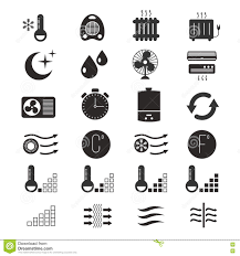 heating cooling icon. royalty-free vector. download heating and cooling icon
