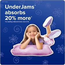 Underjams Size Chart Pampers Underjams Bedtime Underwear Girls Size S M 50 Count