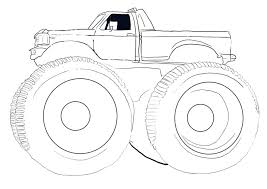 Free Printable Monster Truck Coloring Pages For Kids Pictures