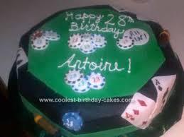 Cool Homemade Poker Table Birthday Cake Idea
