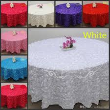 blush pink 3d rose flowers table cloth for wedding party decorations cake tablecloth round rectangle table decor runner skirts carpet 90 round
