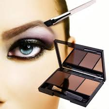 eyebrow shadow. aliexpress.com : buy new 3colors pro kit brown gray eyebrow enhancer powder shadow palette with brush from reliable s