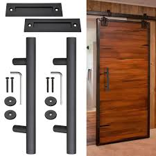 2x 12 sliding barn door pull flush handle gate shed hardware set heavy duty cast