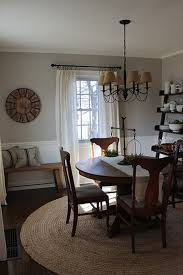 casual and neutral dining room painted benjamin moore london fog and simply white antique