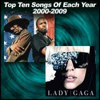 Top 100 Charts 2000 Bis 2010 Top Ten Songs Of Each Year 2000 2009