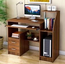 malibu computer desk with drawers and shelves walnut