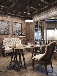 rustic office. Interiors Rustic Office R
