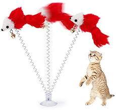 Sanwooden Funny <b>Cat Toy</b> Lovely Sucker Spring <b>Plush</b> Mouse <b>Pet</b> ...