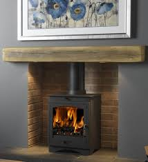 light oak geocast beam with helios 8 stove