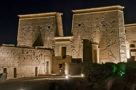 Sound And Light Show Philae Temple Sound And Light Show At Philae Temple In Aswan Egypt