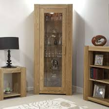 padova solid oak furniture glazed door bookcase display cabinet