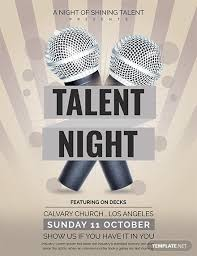 Free Talent Show Flyer Template Download 675 Flyers In Psd