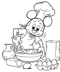 Small Picture Mickey Is Cooking coloring page Free Printable Coloring Pages