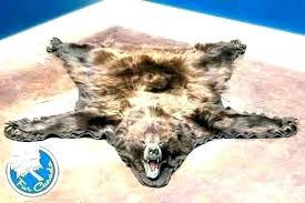 animal fur rug animal skin rug with head fake bear faux rugs black r grey fur pattern