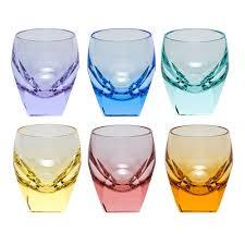 moser crystal bar shot glass set of  multicolor at herendstore