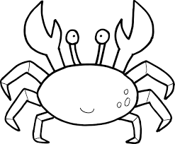 Small Picture Cartoon Crab Drawing Coloring Coloring Pages