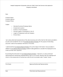 8 Verification Of Employment Letter Samples Sample Templates