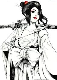 White Dragon Warrior Geisha By Winwinwinwin