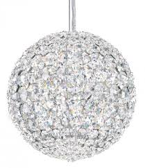 da vinci 4 light 110v pendant in stainless steel with clear spectra crystal