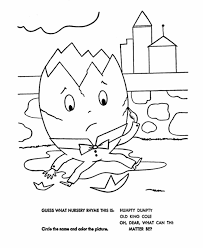 Humpty Dumpty Crafts And Humpty Dumpty Coloring Pages Embroidery