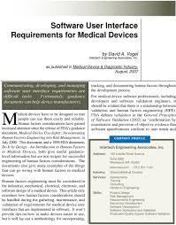 Medical Device Software Design Medical Devices Have To Be Designed So That Pdf Free Download