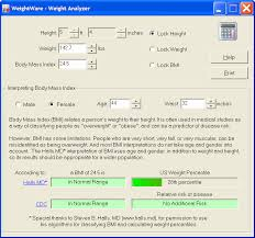 Weight Acc To Height And Age Weightware Weight Analyzer Body Mass Index