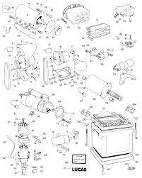 Parts for jaguar e type serie i and ii 6 cylinder starter motor