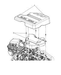 2011 chrysler town country engine cover related parts thumbnail 1
