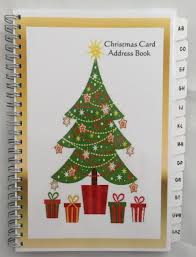 Christmas Card Mailing List Christmas Card Address Book List Organizer With Az Tabs Personalized Gift