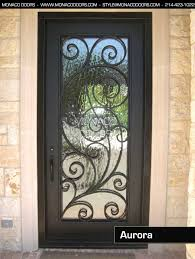 single front doors. iron front door, aurora door - single monaco doors 1