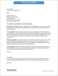 Cover Letter Outline Essential Elements of a Cover Letter 38